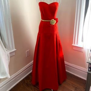 Beautiful rust colored  pageant prom ballgown